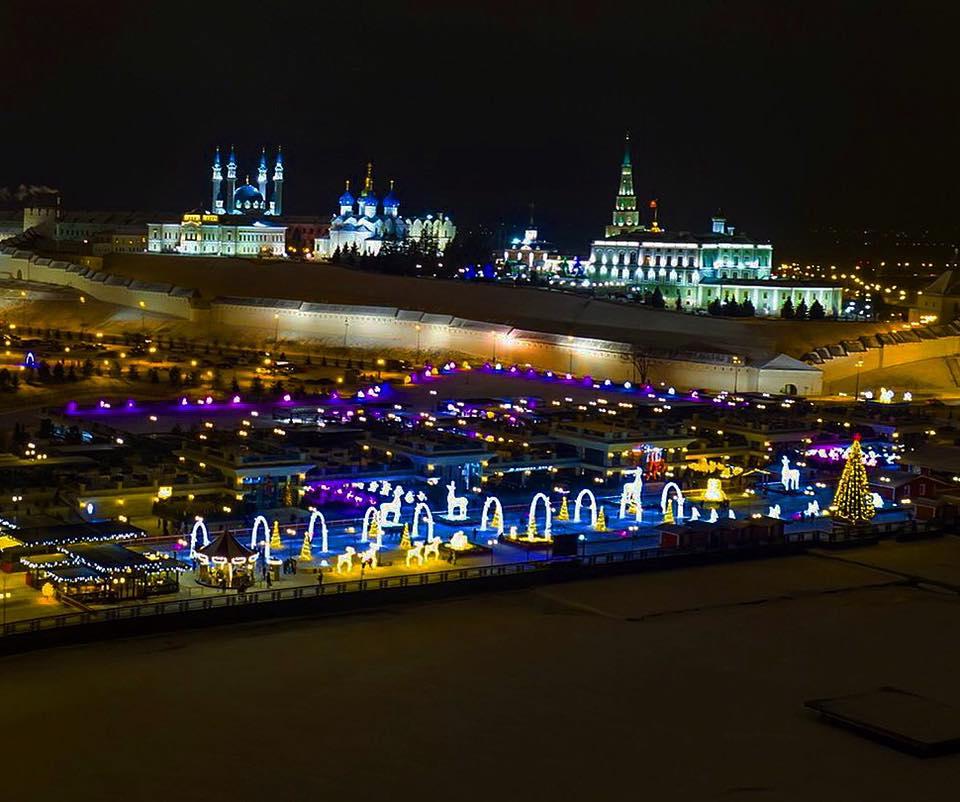 казань кремлевская набережная фото зима ёжику